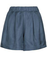 Asceno Shorts Zurich de sarga de seda - Azul