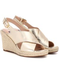 Stuart Weitzman Paris Leather Wedge Espadrilles - Multicolour