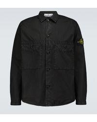 Stone Island Hemdjacke T.CO+OLD aus Baumwolle - Schwarz