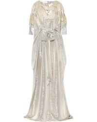 Oscar de la Renta - Sequined Silk Gown - Lyst