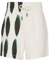 Dries Van Noten Shorts de punto fino de algodón - Blanco