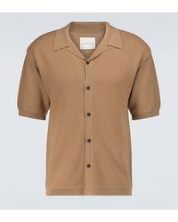 King & Tuckfield Kurzarmhemd aus Merinowolle - Natur