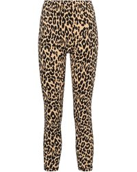 Adam Selman Sport French Cut Leopard-print leggings - Multicolor