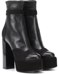 Pierre Hardy Scarlett Leather Ankle Boots - Black