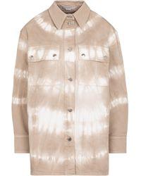 Stella McCartney Sobrecamisa de jeans con tie-dye - Neutro