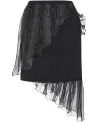 Christopher Kane - Crepe Skirt With Silk Ruffles - Lyst