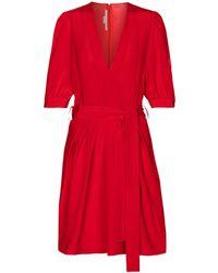Stella McCartney Vestido corto Jordan de seda - Rojo