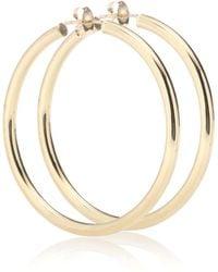 Loren Stewart - Medium Thick Tube Hoops 10kt Gold Earrings - Lyst