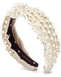 Lele Sadoughi - Verziertes Haarband aus Samt - Lyst