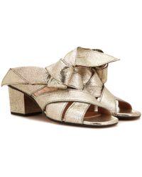Chloé - Metallic Leather Sandal - Lyst