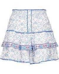 Poupette Mini-jupe imprimée Camilla - Blanc