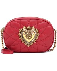 Dolce & Gabbana - Devotion Quilted Leather Camera Bag - Lyst