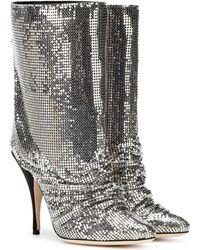 Marco De Vincenzo Ankle Boots aus Glitter - Mettallic