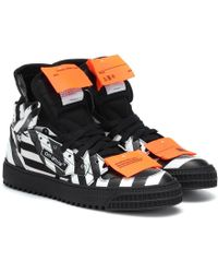 Off-White c/o Virgil Abloh Sneakers Off-Court in pelle stampata - Nero