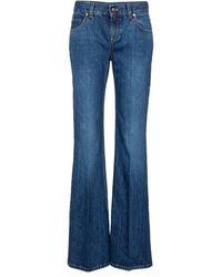 Gucci Jeans flared a vita alta - Blu