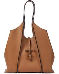 Tod's Timeless Medium Leather Tote - Brown