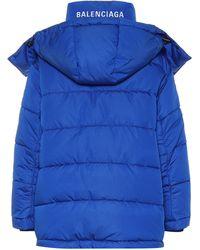 Balenciaga New Swing Puffer Jacket - Blue