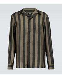 Fendi Striped Pyjama Shirt - Green