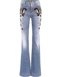 Roberto Cavalli - Beaded High-waist Jeans - Lyst