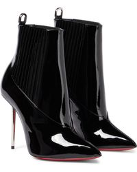 Christian Louboutin Epic 100 Patent Leather Ankle Boots - Black