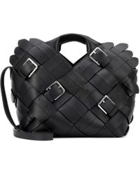 Loewe - Woven Buckle Leather Tote - Lyst