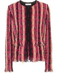 Etro - Striped Cotton-blend Cardigan - Lyst