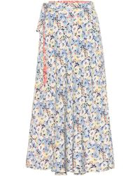 Polo Ralph Lauren Falda midi reversible floral - Azul