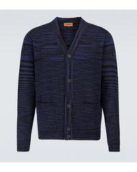 Missoni Gestreifter Cardigan aus Wolle - Blau