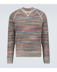 Missoni Gemusterter Pullover aus Wolle - Grau