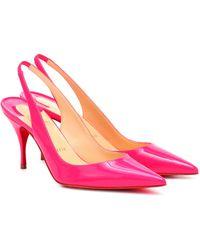 Christian Louboutin Pumps Clare 80 aus Lackleder - Pink