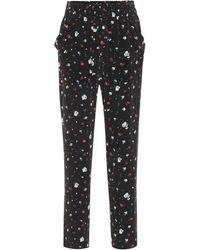 Ganni - Nolana Floral Silk Pants - Lyst