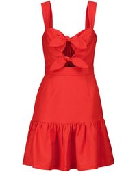 Rebecca Vallance Pablo Linen-blend Minidress - Red