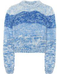 Ganni Pullover Hand Knit Wool - Blau