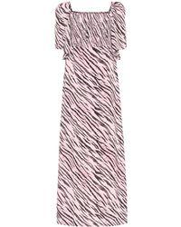 Baum und Pferdgarten Exclusive To Mytheresa – Atena Tiger-print Maxi Dress - Pink