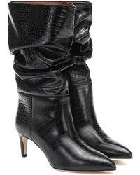 Paris Texas Ankle Boots aus Leder - Schwarz