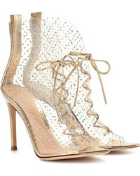 Gianvito Rossi Elly 105 Pvc Ankle Boots - Metallic