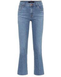 J Brand Jeans flared Selena - Blu