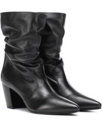 Prada - Slouched Leather Ankle Boots - Lyst