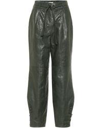 Ulla Johnson Pantalones Navona de piel - Verde