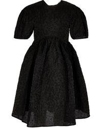 Cecilie Bahnsen Mini-robe cloche Beatrice - Noir