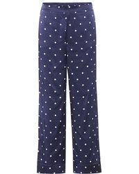Asceno - Pantaloni pigiama a pois in seta - Lyst