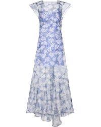 Sir. The Label Anais Floral Silk Organza Maxi Dress - Blue