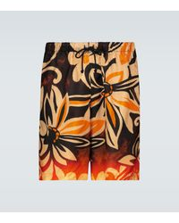 Dries Van Noten Floral Printed Shorts - Multicolour