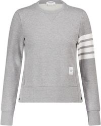 Thom Browne Sweat-shirt en coton - Gris