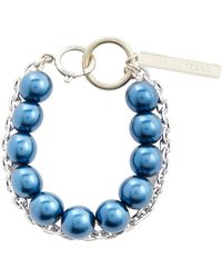 Marine Serre Bracelet Hybrid Beaded - Bleu