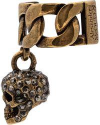 Alexander McQueen Ear cuff adornado con calavera - Metálico