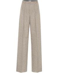 Rebecca Vallance Cocoa Checked High-rise Trousers - Multicolour
