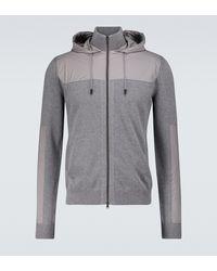 Herno Superlight Cotton Bomber Jacket - Grey
