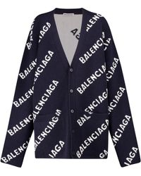 Balenciaga Cardigan aus Wolle - Blau