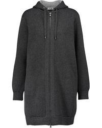 Brunello Cucinelli Sweat-shirt à capuche en cachemire mélangé - Gris